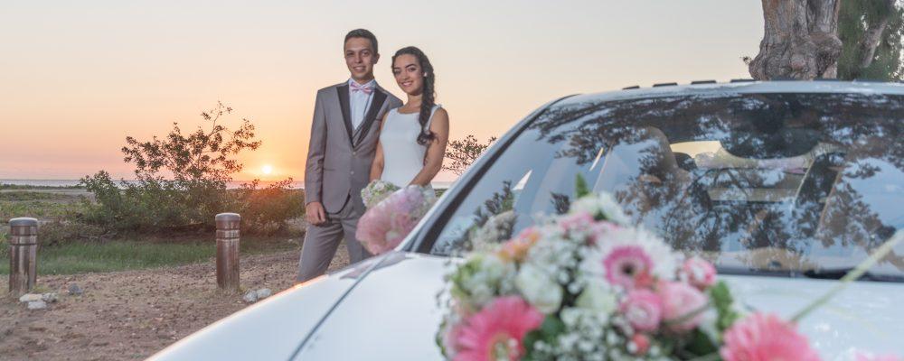 Mariés et voiture ile de la reunion